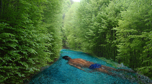 Photoshop swimming-in-the-forest